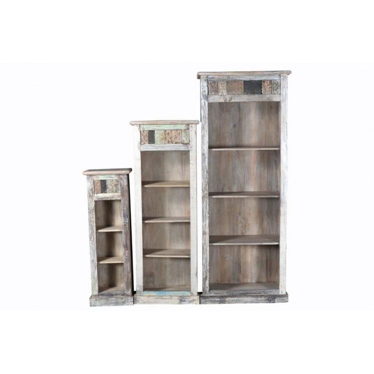 Brocante boekenkasten en hoekkasten