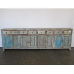 brocante dressoir met blauw - 15w27f