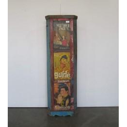 vintage gekleurde hoekkast 1c-019
