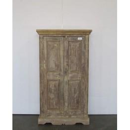 bruine meidenkast met deuren 1c-027