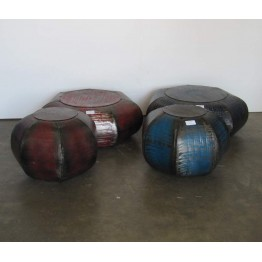 ronde brocante salontafels van ijzer - 15s35e/f