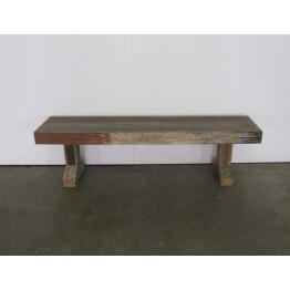 brocante gekleurde houten bank 1c-070