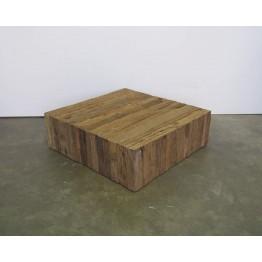 teakhouten vierkante salontafel - s-bas-100